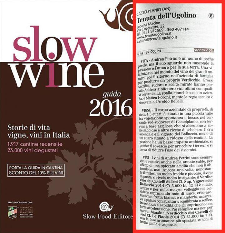 Premio Guida Slow Wine 2016